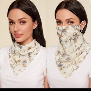 Scarf & mask - flowered